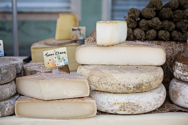 Raw cheese from grass-fed cows