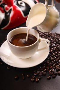 Raw dairy coffee creamer