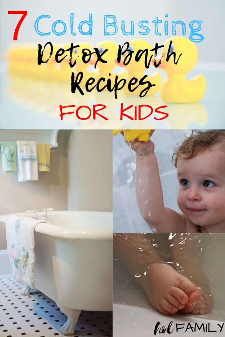 7 Cold Busting Detox Bath Recipes for Kids