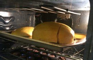 spaghetti squash and meatballs in oven