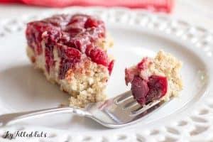 Upside down cranberry cake