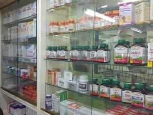 Cabinets full of calcium supplements
