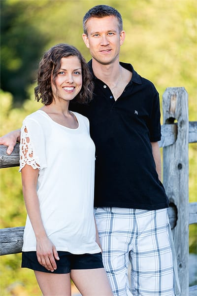 Picture of David and Raina Cordell, founders of hol FAMILY blog.