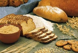 Cookies, breads, and other cereal grains containing wheat and gluten