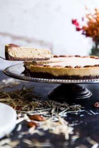 Low carb keto pumpkin cheesecake