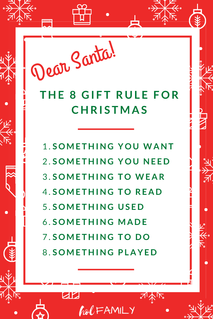 The 8 Gift Rule for Christmas