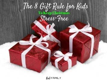 The 8 Gift Rule to Keep Christmas Stress Free