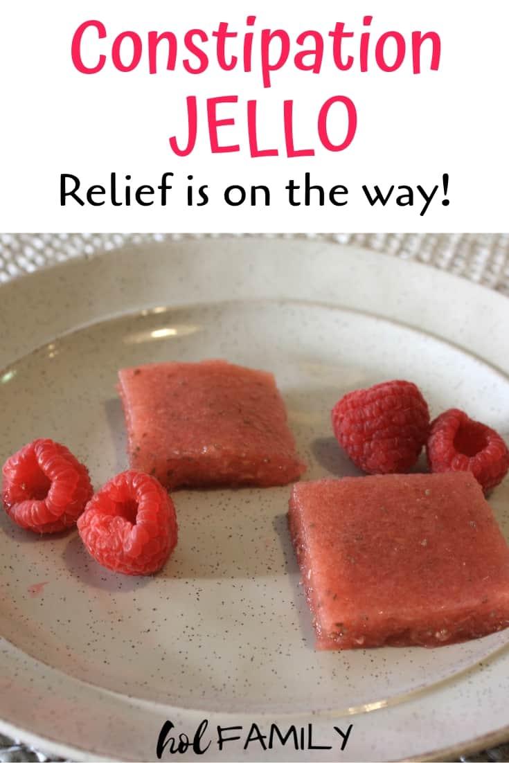 Anti-constipation raspberry jello