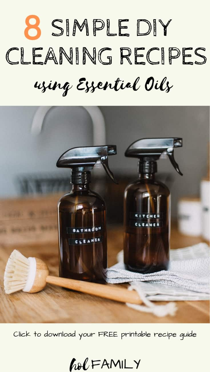 8 simple DIY cleaning recipes using essential oils