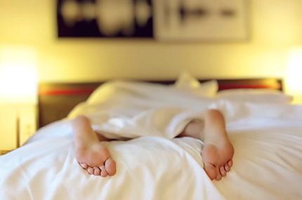 Feet Of A Person Sleeping