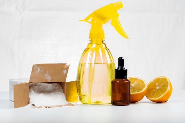 Homemade Lemon Lime Essential Oils Dusting Spray
