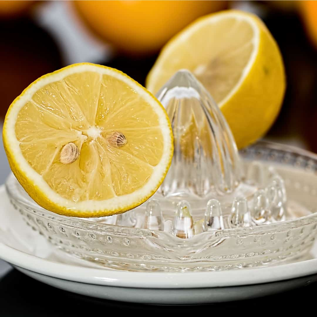 Lemon in lemon juicer