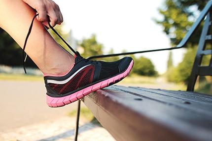 Tying Shoe To Workout