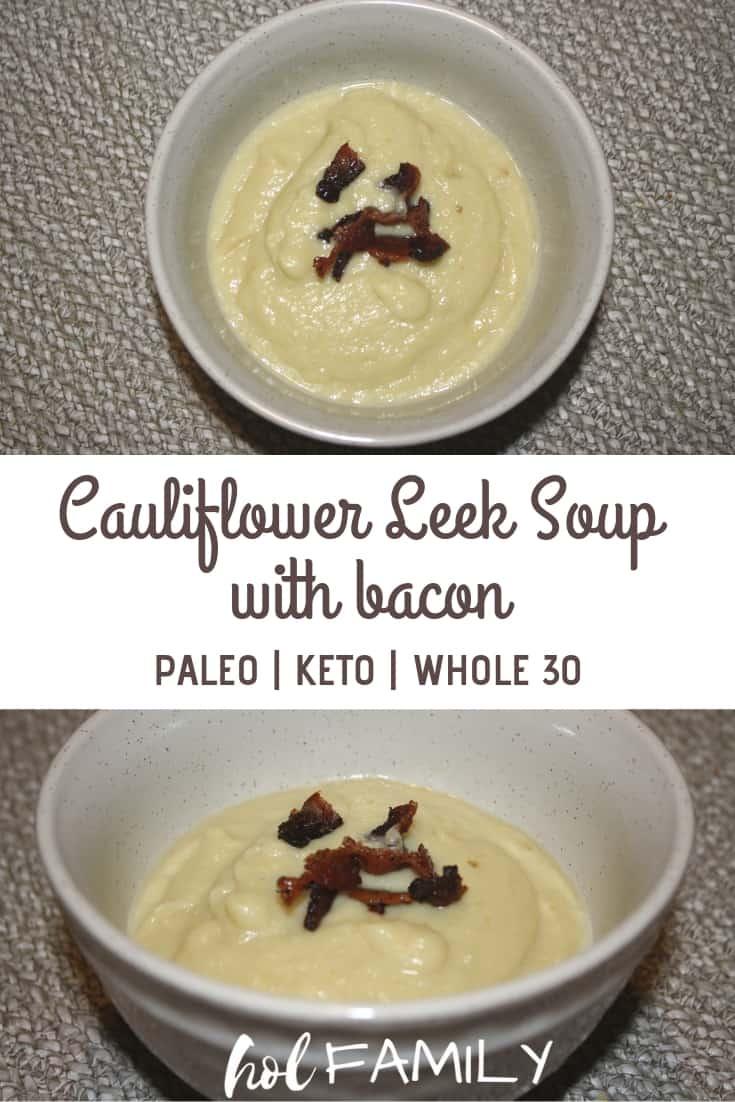 Creamy Cauliflower Soup with bacon