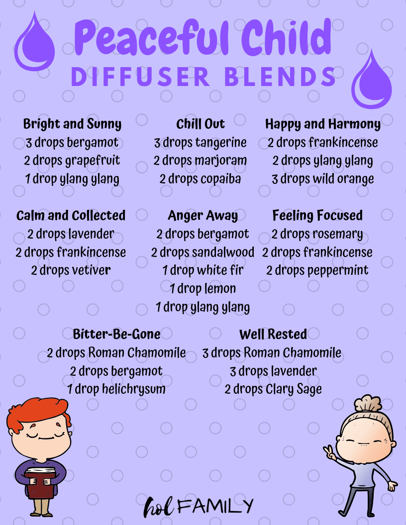 Peaceful Child Diffuser Blends To Help Calm Anger And Reduce Anxiety Hol Family