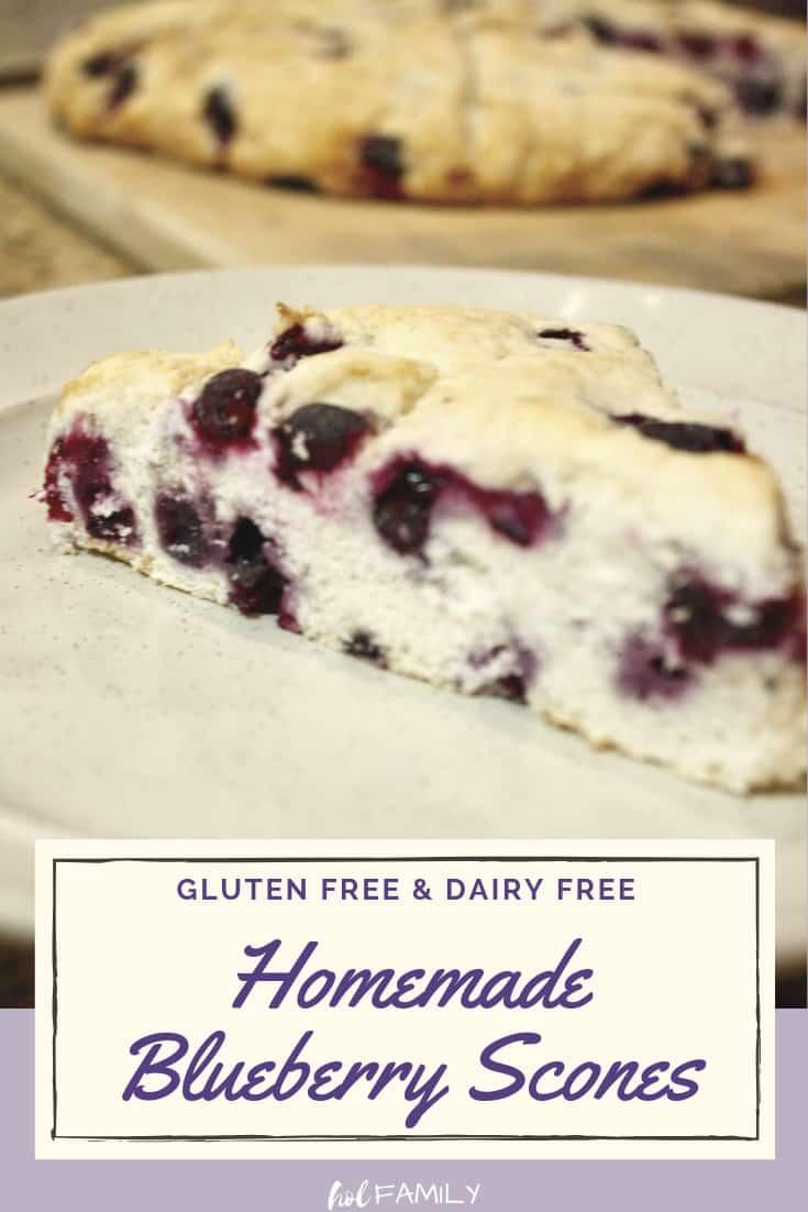 Gluten Free Dairy Free Blueberry Scones