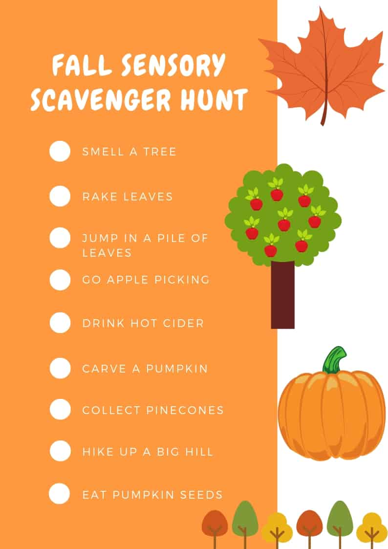 Fall Sensory Scavenger Hunt