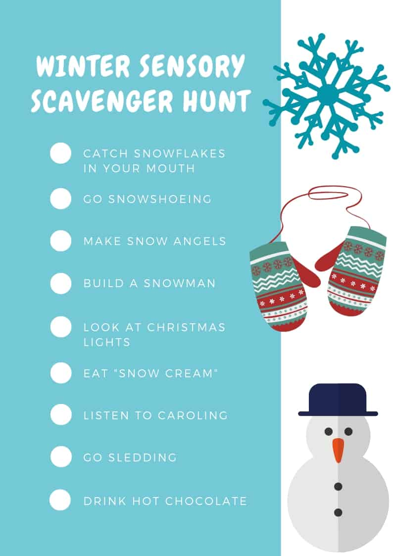 Winter Sensory Scavenger Hunt